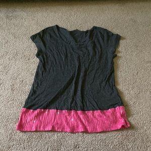 Gray and pink shirt